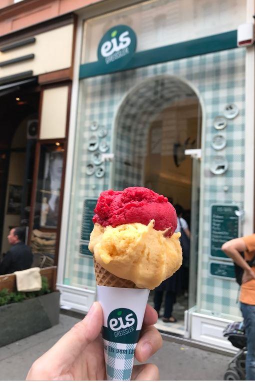 維也納必吃的美食冰淇淋vienna icecream