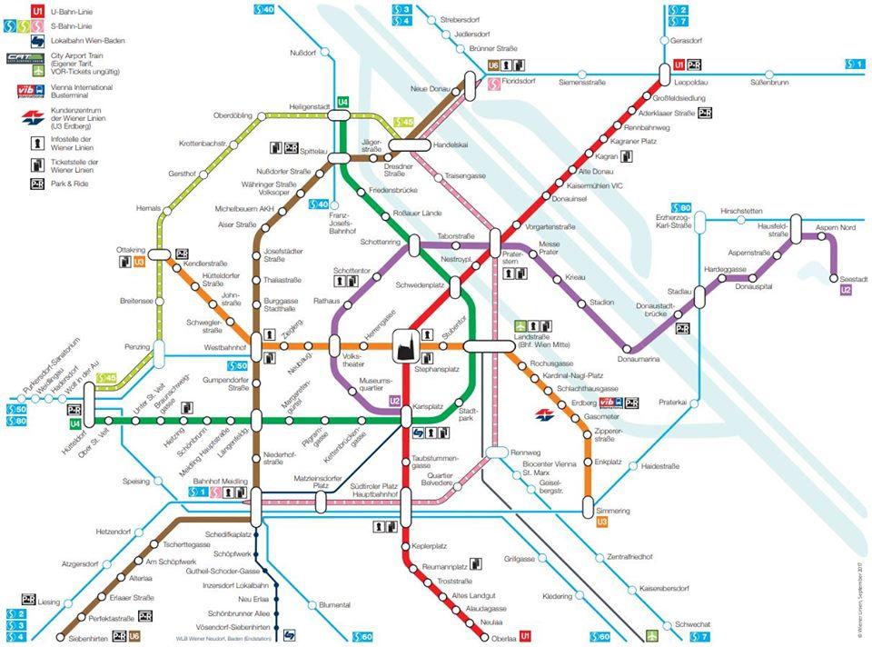 維也納地鐵圖Vienna metro